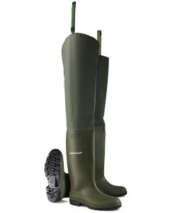 Dunlop Pricemastor Non-Safety Thigh Wader Green