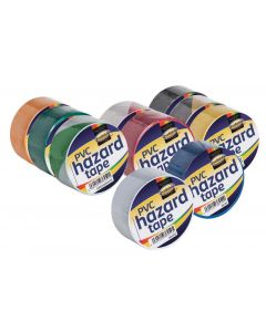 Prosolve PVC Self Adhesive Hazard Tapes 50mm x 33m