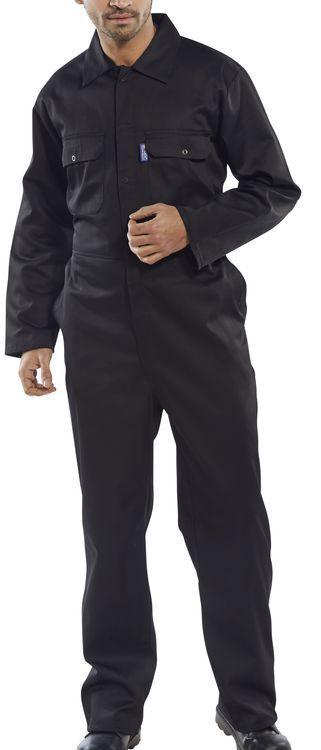 Click Workwear Regular Boilersuit Overalls Black