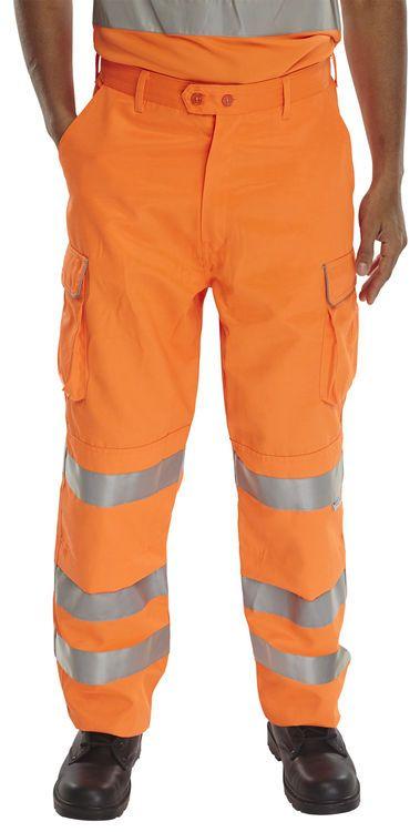 B-Seen Hi-Vis Railway Trousers Orange