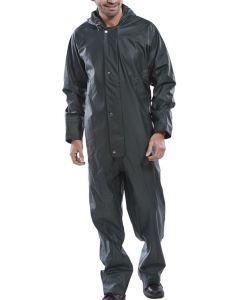 B-Dri Weatherproof Hooded Coverall Overalls Khaki