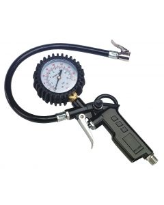 SIP Trade Tyre Inflator With Gauge Clip On Connector