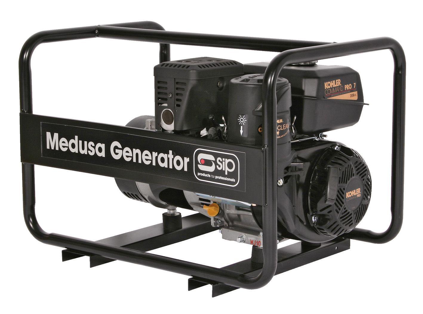 SIP Trade Medusa MGKP3.0F 3.75KVA Petrol Kohler Generator Full Frame