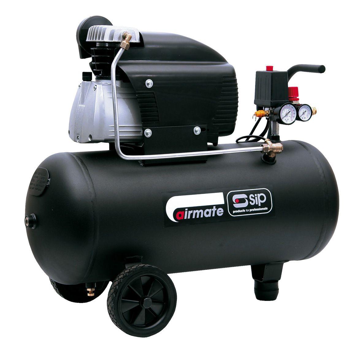 SIP Airmate TN2.5/50-D 50 Litre 2.5Hp Air Compressor 230V