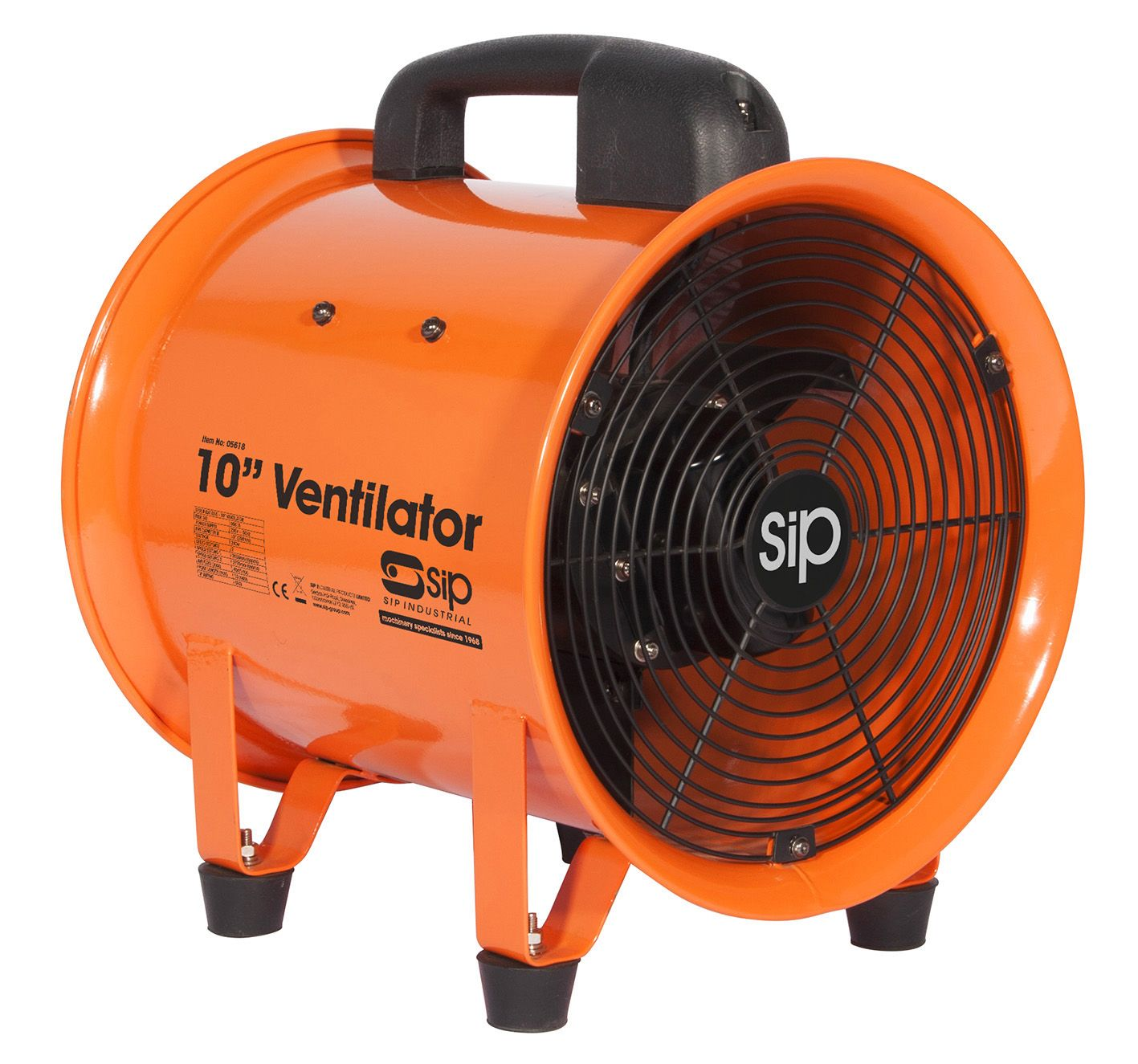 """SIP 10"""" Portable Super Speed Ventilator 240w 230v"""