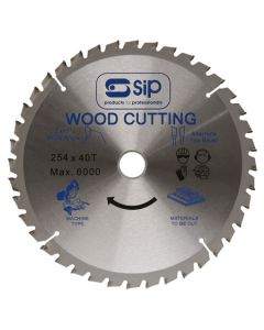SIP TCT Circular Saw Blade 254 x 30mm 40T