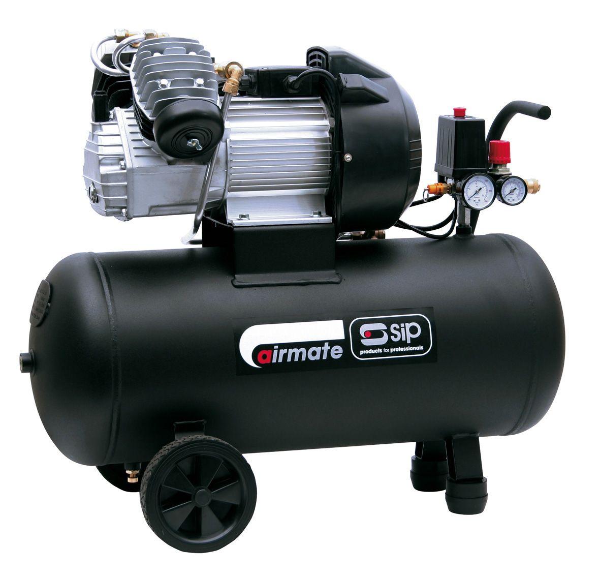 SIP Airmate Tn3.0/50-D 50 Litre 3.0Hp Air Compressor 230V