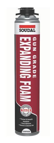 Soudal Gap Filler Expanding Foam Gun Grade Champagne 750ml