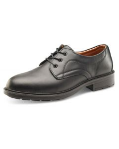 Click Managers S1 Safety Leather Shoes Black