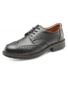 Click Brogue S1 Safety Leather Shoes Black