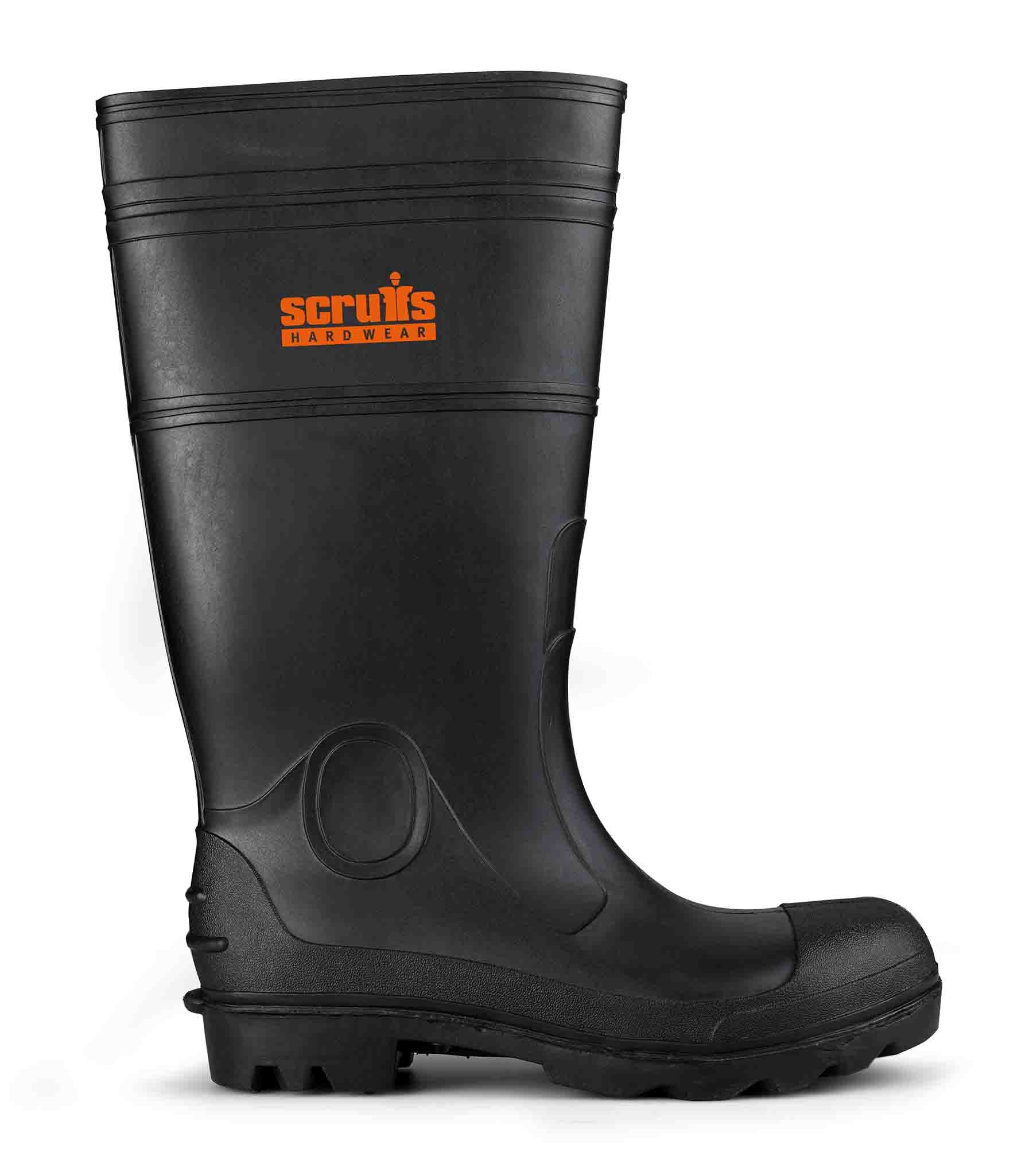 Scruffs Hayeswater Safety Wellington Boots Black