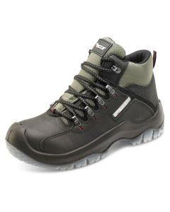 Click Traders S3 Full Safety Steel Toe Cap Traxion Leather Boots Black