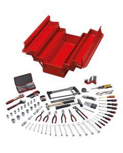 Teng Tools 144 Piece Portable Service Tool Set With TC540 Tool Box TC144D
