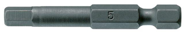 """Teng Tools 1/4"""" Hex Bits 50mm Long"""