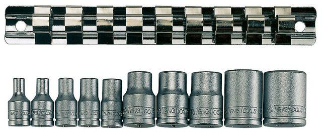 """Teng Tools 10 Piece 1/4"""" & 3/8"""" TX-E Socket Clip Rail"""