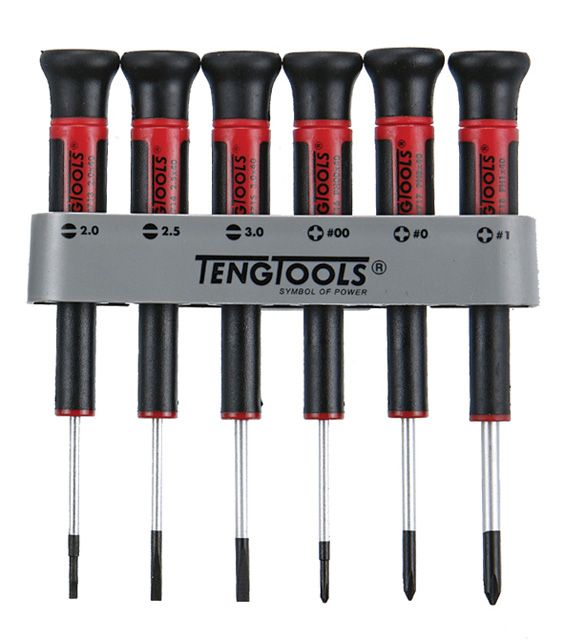 Teng Tools 6 Piece Mini Mixed Screwdriver Set