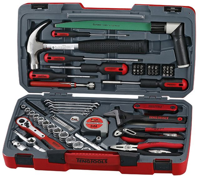 """Teng Tools 79 Piece Service Tool Set With 3/8"""" Sockets"""