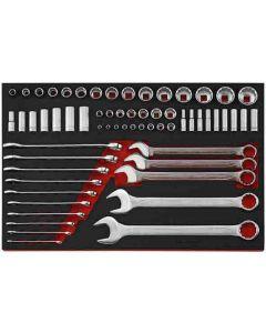 Teng Tools 62 Piece AF Spanner / Socket Set