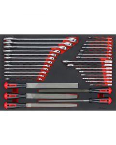 Teng Tools 32 Piece Spanner & File Set