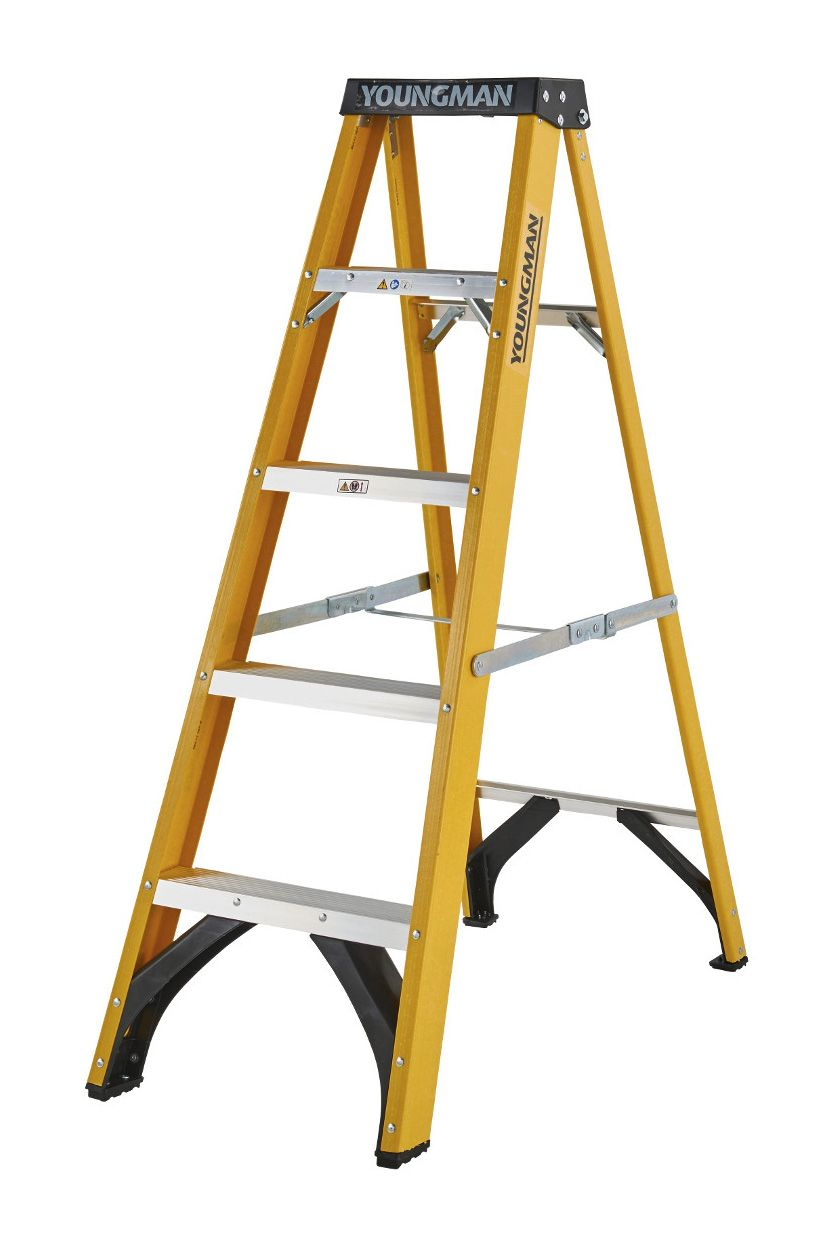 Youngman Fibreglass Heavy Duty Trade Step Ladders