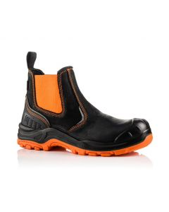 Buckler Buckz Viz BVIZ3 Hi-Viz Orange Full Safety Dealer Boots Black