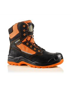 Buckler Buckz Viz BVIZ1 Hi-Viz Orange High Full Safety Boots Black