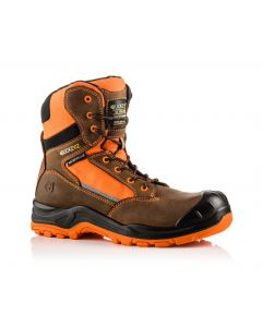 Buckler Buckz Viz BVIZ1 Hi-Viz Orange High Full Safety Boots Brown