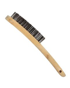Abracs 4 Row Steel Wire Brush Wooden Handle