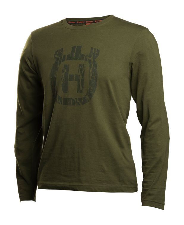 Husqvarna Xplorer T-Shirt Long Sleeve Unisex Bark Camo