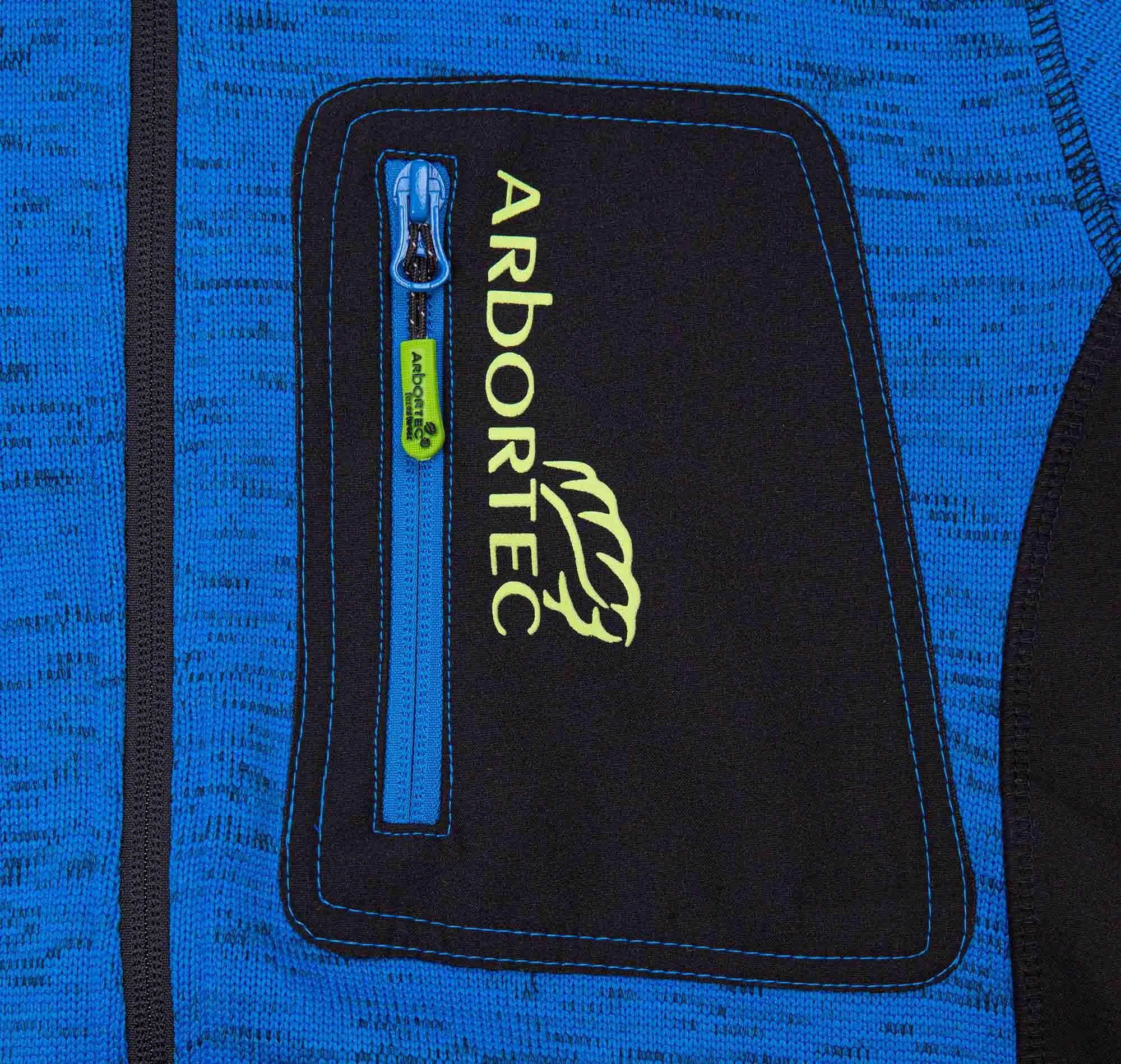Arbortec AT4900 Kudu Plus Melange Zip Sweater Jacket Blue