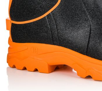 Buckler BBZ8000 Buckbootz Hi-Viz Full Safety Wellies Neoprene Lined Black/Orange S5 HRO CI HI AN SRC