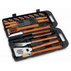 Landmann BBQ Grill Chef 18 Piece Bamboo Utensil Set in Case